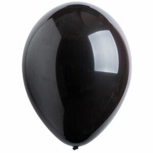 Латексный шар с гелием. Черный