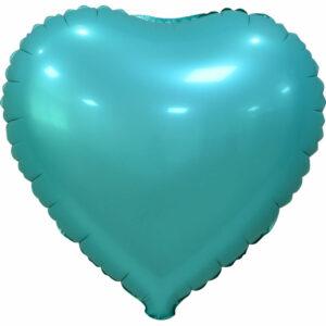 """Фольгированный шар. Сердце """"Tiffany Blue"""""""