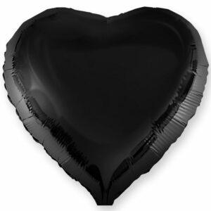 Фольгированный шар. Сердце Черное