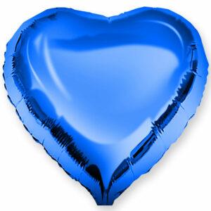Фольгированный шар. Сердце Синее