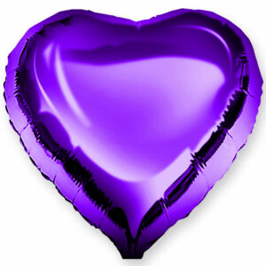 Фольгированный шар. Сердце Фиолетовое