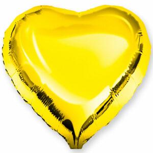 Фольгированный шар. Сердце Золотое