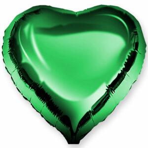 Фольгированный шар. Сердце Зеленое