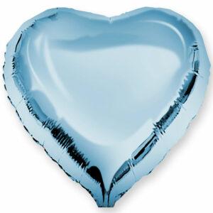 Фольгированный шар. Сердце Голубое