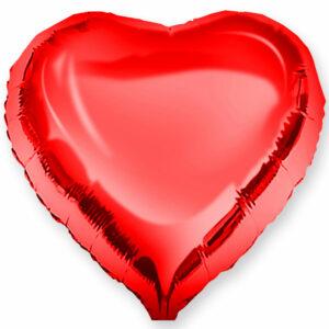 Фольгированный шар. Сердце Красное