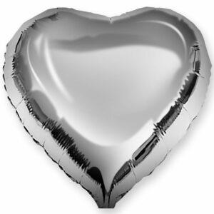 Фольгированный шар. Сердце Серебряное