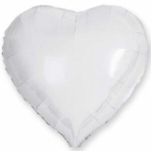 Фольгированный шар. Сердце Белое