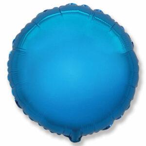 Фольгированный шар. Круг Синий
