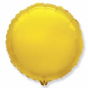 Фольгированный шар. Круг Золотой