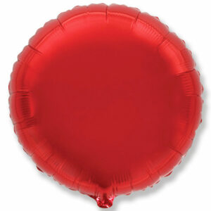 Фольгированный шар. Круг Красный