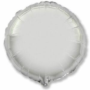 Фольгированный шар. Круг Серебряный