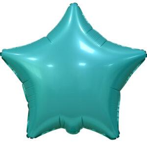 """Фольгированный шар. Звезда """"Tiffany Blue"""""""