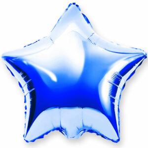 Фольгированный шар. Звезда Синяя