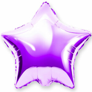 Фольгированный шар. Звезда Фиолетовая