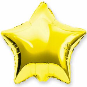 Фольгированный шар. Звезда Золотая