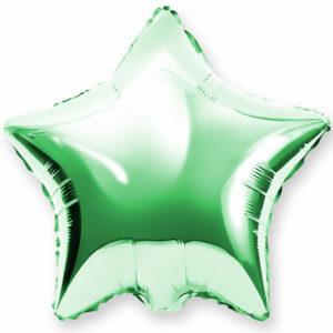 Фольгированный шар. Звезда Зеленая