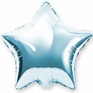 Фольгированный шар. Звезда Голубая