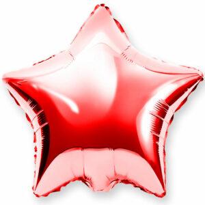 Фольгированный шар. Звезда Красная