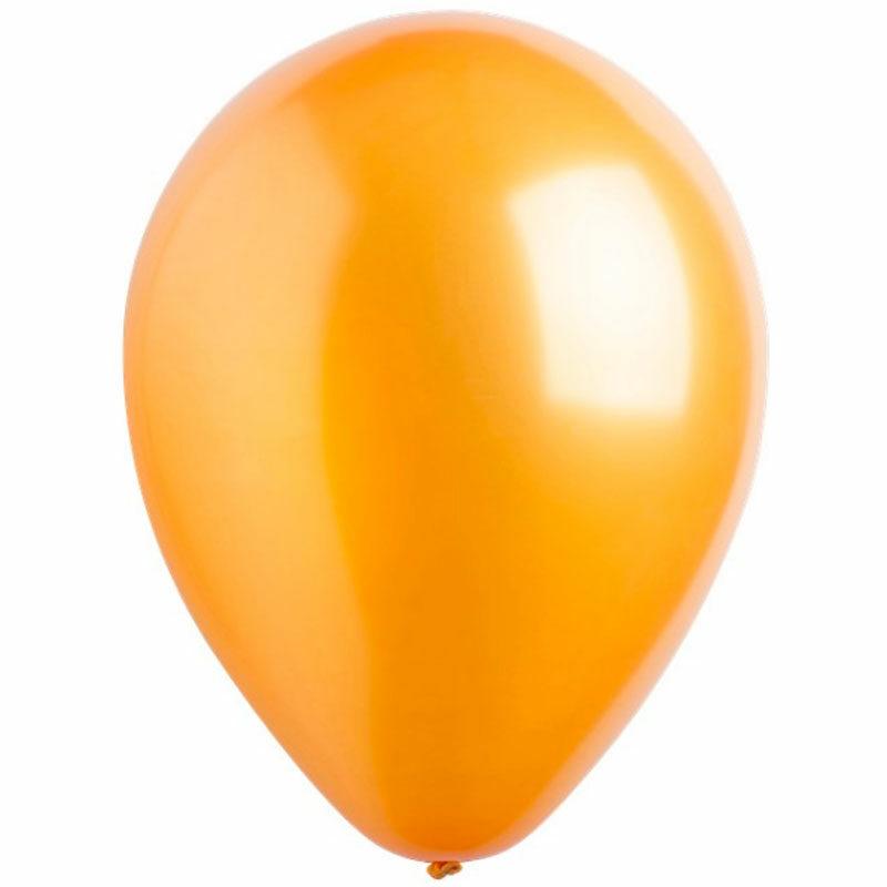 Воздушный шар золотой металлик