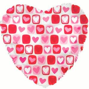 """Фольгированный шар. Сердце """"Love №6"""""""