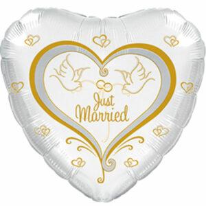 """Фольгированный шар. Сердце """"Свадьба №3"""""""