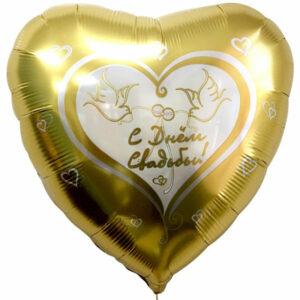 """Фольгированный шар. Сердце """"Свадьба №5"""""""