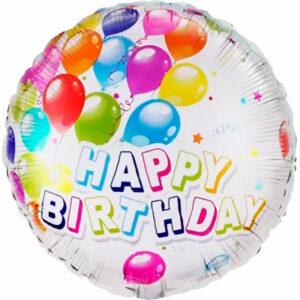 """Фольгированный шар. Круг """"Happy Birthday №10"""""""