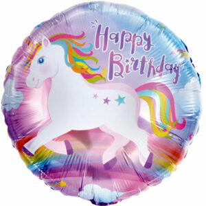"""Фольгированный шар. Круг """"Happy Birthday №9"""""""