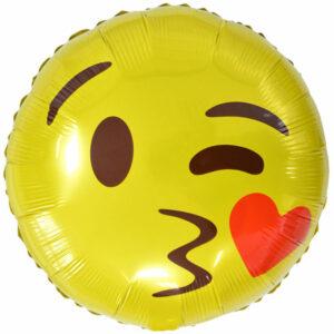 """Фольгированный шар. Круг """"Эмоции Поцелуй"""""""