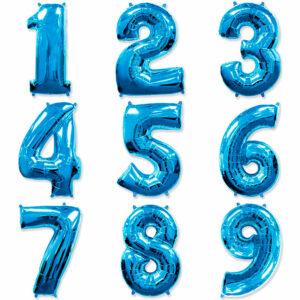 Фольгированный шар. Цифра Синяя (Выбор цифры)