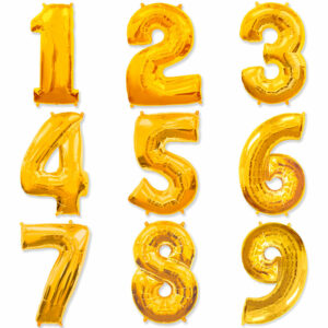 Фольгированный шар. Цифра Золотая (Выбор цифры)