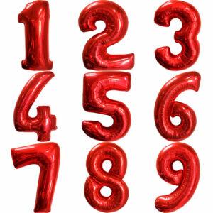 Фольгированный шар. Цифра Красная (Выбор цифры)
