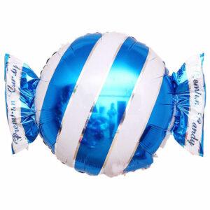 """Фольгированный шар. Круг """"Конфета"""" Синий"""