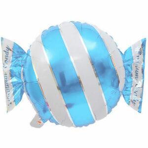 """Фольгированный шар. Круг """"Конфета"""" Голубой"""