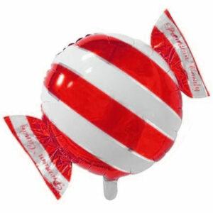 """Фольгированный шар. Круг """"Конфета"""" Красный"""