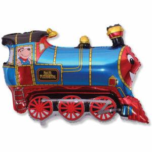 """Фольгированный шар. Фигура """"Паровозик Томас"""""""