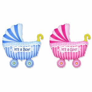 """Фольгированный шар. Фигура """"Детская коляска"""" (Выбор цвета)"""