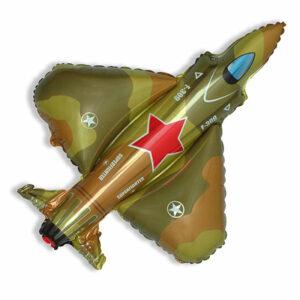 """Фольгированный шар. Фигура """"Военный самолет"""""""