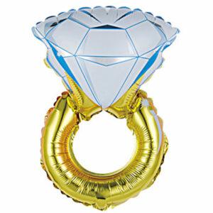 """Фольгированный шар. Фигура """"Кольцо с бриллиантом"""""""