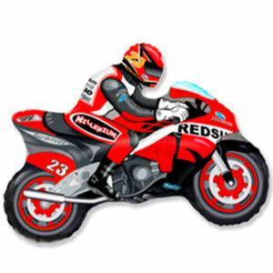 """Фольгированный шар. Фигура """"Спортивный мотоцикл"""""""
