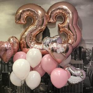 """Композиция из воздушных шаров """" С Днём Рождения №8″"""