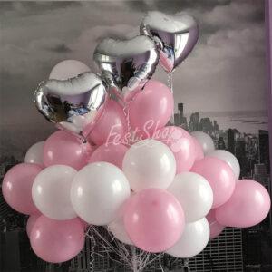 Нежная композиция воздушных шаров № 1