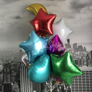 Композиция ассорти  из фольгированных шаров №1