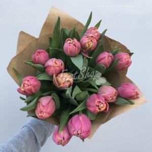 Букет из пионовидных тюльпанов №2