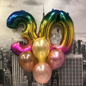 """Композиция из воздушных шаров """" С Днем Рождения №7″"""