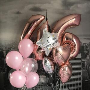 """Композиция из  воздушных шаров """" С Днем Рождения № 4″"""