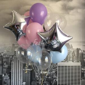 Нежная композиция из воздушных шаров № 2