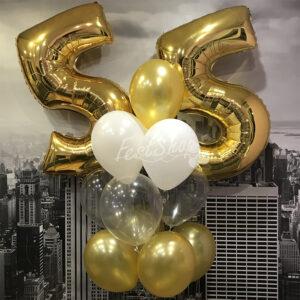 """Композиция из воздушных шаров """" С Днём Рождения № 3"""