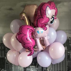 """Композиция из воздушных шаров """" с пони Пинки Пай № 1 """""""