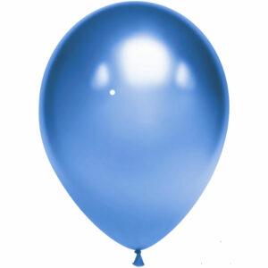Латексный шар с гелием. Синий хром